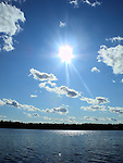 The sun lights up Spider Lake in northern Wisconsin.