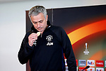 Manchester United Manager Jose Mourinho eats a biscuit ahead of the Manchester United press conference at the Carrington Training Centre, Manchester. Picture date: May 19th 2017. <br /> Pic credit should read: Matt McNulty/Sportimage