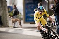 overall race leader Michał Kwiatkowski (POL/SKY)<br /> <br /> Stage 5 (ITT): Barbentane to Barbentane (25km)<br /> 77th Paris - Nice 2019 (2.UWT)<br /> <br /> ©kramon