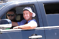 Pauly D and The Situation pictured driving during filming of The Jersey Shore Show season six in Seaside Heights, New Jersey on June 27, 2012  &copy; Star Shooter / MediaPunchInc /*NORTEPHOTO.COM*<br />