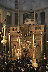Israel, Jerusalem, the Edicule at the heart the Church of the Holy Sepulchre