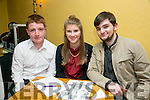 l-r Thomas White, Sinead Ryan and Billy Donovan. at the Red Cross Fundraiser Table Quiz on Friday