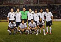 US Men's National Team Starting Eleven during FIFA World Cup qualifier against El Salvador. USA tied El Salvador 2-2 at Estadio Cuscatlán Stadium in El Salvador on March 28, 2009.