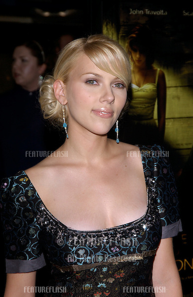 Actress SCARLETT JOHANSSON at the Hollywood Film Festival premiere of her new movie A Love Song for Bobby Long..October 17, 2004