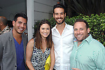 Jeff Jeff Brueggeman, Allison Shafii, Christopher Shafii, Jon Gluck==<br /> LAXART 5th Annual Garden Party Presented by Tory Burch==<br /> Private Residence, Beverly Hills, CA==<br /> August 3, 2014==<br /> &copy;LAXART==<br /> Photo: DAVID CROTTY/Laxart.com==