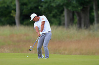 Hideto Tanihara (JPN) on the 1st during Round 2 of the Aberdeen Standard Investments Scottish Open 2019 at The Renaissance Club, North Berwick, Scotland on Friday 12th July 2019.<br /> Picture:  Thos Caffrey / Golffile<br /> <br /> All photos usage must carry mandatory copyright credit (© Golffile | Thos Caffrey)