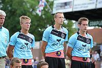 KAATSEN: LEEUWARDEN: 20-07-2014, Rengersdag, Menno van Zwieten, Marten Feenstra en Pier Piersma, ©foto Martin de Jong