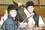SADDLE UP: Gerard Flavin and Emer O'Connor of the Listowel Equestrian Centre who are all saddled up for the charity trek on Sunday, August 24th for the North Kerry Equi Friends, the Listowel branch of Riding for the Disabled.   Copyright Kerry's Eye 2008