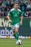 13.04.2019, Weser Stadion, Bremen, GER, 1.FBL, Werder Bremen vs SC Freiburg, <br /> <br /> DFL REGULATIONS PROHIBIT ANY USE OF PHOTOGRAPHS AS IMAGE SEQUENCES AND/OR QUASI-VIDEO.<br /> <br />  im Bild<br /> <br /> Niklas Moisander (Werder Bremen #18)<br /> Einzelaktion, Ganzkörper / Ganzkoerper<br /> <br /> Foto © nordphoto / Kokenge