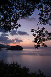 Milne Bay, Papua New Guinea; sunset views of Milne Bay from Tawali Resort , Copyright © Matthew Meier, matthewmeierphoto.com