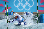 LONDON, ENGLAND - JULY 29:  David Florence of Great Britain competes in the Men's Canoe Slalom Prelims during Day 3 of the London 2012 Olympic Games on July 29, 2012 at the Lee Valley White Water Center Center in Hertfordshire, England. (Photo by Donald Miralle)