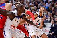 Real Madrid's Othello Hunter and Anthony Randolph during Turkish Airlines Euroleague match between Real Madrid and CSKA Moscow at Wizink Center in Madrid, Spain. January 06, 2017. (ALTERPHOTOS/BorjaB.Hojas)