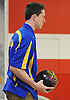 Thomas Consiglio of Kellenberg gets ready to bowl during a three-game CHSAA boys bowling match against St. Anthony's at AMF Garden City Lanes on Monday, Jan. 9, 2017.