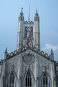 An Anglical cathedral, St. Paul's Cathedral noted for its Gothic architecture is seen in Kolkata, West Bengal on Thursday, May 25, 2017. Photographer: Sanjit Das