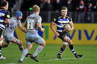 Tom Ellis of Bath Rugby in possession. Aviva Premiership match, between Bath Rugby and Northampton Saints on December 5, 2015 at the Recreation Ground in Bath, England. Photo by: Patrick Khachfe / Onside Images
