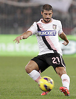 Calcio, Serie A: Roma vs Palermo. Roma, stadio Olimpico, 4 novembre 2012..Palermo midfielder Franco Brienza in action during the Italian Serie A football match between AS Roma and Palermo, at Rome's Olympic stadium, 4 november 2012..UPDATE IMAGES PRESS/Riccardo De Luca