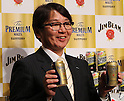 "January 10, 2017, Tokyo, Japan - Suntory Beer Limited president Tetsu Mizutani displays the new ""Premium Malt's"" beer as he announces the company's business strategy in Tokyo on Tuesday, January 10, 2017. Suntory Beer will launch the new Premium Malt's beer in March for the government's Premium Friday campaign. (Photo by Yoshio Tsunoda/AFLO) LWX -ytd-"