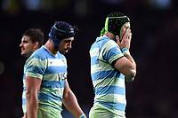 Matias Alemanno of Argentina looks dejected late in the game. Old Mutual Wealth Series International match between England and Argentina on November 11, 2017 at Twickenham Stadium in London, England. Photo by: Patrick Khachfe / Onside Images