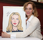 """Uma Thurman from the cast of """"The Parisian Woman"""" honored with a Sardi's Wall of Fame Portrait on February 28, 2018 at Sardi's in New York City."""
