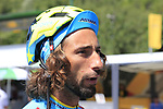 Trick cyclist Vittorio Brumotti in the Tour Village before the start of Stage 18 of the 104th edition of the Tour de France 2017, running 179.5km from Briancon to the summit of Col d'Izoard, France. 20th July 2017.<br /> Picture: Eoin Clarke | Cyclefile<br /> <br /> <br /> All photos usage must carry mandatory copyright credit (&copy; Cyclefile | Eoin Clarke)