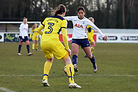 Lucia Leon of Tottenham Ladies and Connie Yorston of Oxford United Ladies during Tottenham Hotspur Ladies vs Oxford United Women, FA Women's Super League FA WSL2 Football at Theobalds Lane on 11th February 2018