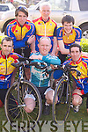 Race: Competing in the Ras Mumhan Cycle Race in Killorglin on Saturday were, l-r: Cian Hogan, Eugene Moriarty and Niall Brosnan. Back L-r: Tom Flaherty, Matt Lacey and Conor McCarthy (all from Tralee)..