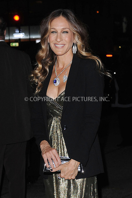 WWW.ACEPIXS.COM . . . . . .April 18, 2013...New York City....Sarah Jessica Parker at the Tiffany & Co. 2013 Blue Book Collection Ball at Rockefeller Center on April 18, 2013 in New York City ....Please byline: KRISTIN CALLAHAN - ACEPIXS.COM.. . . . . . ..Ace Pictures, Inc: ..tel: (212) 243 8787 or (646) 769 0430..e-mail: info@acepixs.com..web: http://www.acepixs.com .