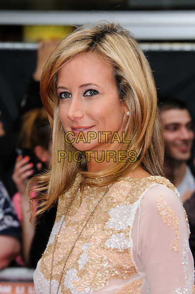 Lady Victoria Hervey.'The Expendables 2' UK film premiere held at the Empire Leicester Square,.London, England..13th August 2012.headshot portrait gold white beads beaded .CAP/CJ.©Chris Joseph/Capital Pictures.