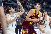 Real Madrid Fabien Causeur and Herbalife GC Anzejs Pasecniks during Liga Endesa match between Real Madrid and Herbalife GC at Wizink Center in Madrid, Spain. December 03, 2017. (ALTERPHOTOS/Borja B.Hojas) NortePhoto.con NORTEPHOTOMEXICO