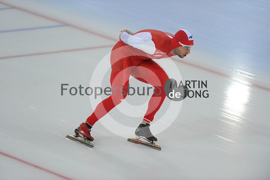 SPEED SKATING: HAMAR: Vikingskipet, 04-03-2017, ISU World Championship Allround, 5000m Men, Konrad Niedzwiedzki (POL), ©photo Martin de Jong