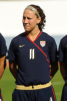 Lauren Cheney. The USWNT defeated Iceland (2-0) at Vila Real Sto. Antonio in their opener of the 2010 Algarve Cup on February 24, 2010.