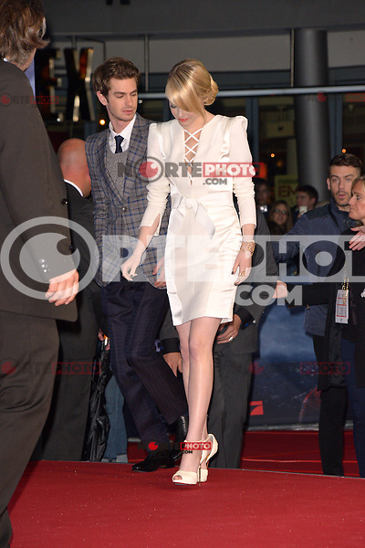 Emma Stone (wearing an Andrew Gn dress, Louboutin shoes) and Andrew Garfield attending the Germany premiere of the movie The Amazing Spider-Man at CineStar Sony Center in Berlin. Berlin, 20.06.2012...Credit: Timm/face to face /MediaPunch Inc. ***Online Only for USA Weekly Print Magazines*** NORTEPOTO.COM<br /> **SOLO*VENTA*EN*MEXICO**<br /> **CREDITO*OBLIGATORIO** <br /> *No*Venta*A*Terceros*