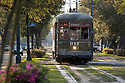 The St. Charles Streetcar line rolls pass New Orleans' finest mansions, Friday, March 26, 2005.<br /> (Cheryl Gerber Photo)complete streets