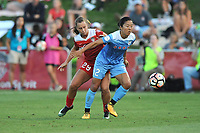 Boyds, MD - Saturday August 26, 2017: Meggie Dougherty Howard, Yuki Nagasato during a regular season National Women's Soccer League (NWSL) match between the Washington Spirit and the Chicago Red Stars at Maureen Hendricks Field, Maryland SoccerPlex.