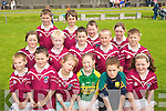 ON THE BALL: The Dromid team that took part in the annual Johnny Boyle memorial Shield Juvenile Football Blitz in Caherciveen on Sunday last..Front L/r Kevin Sheehan, Ciaran Daly, Aine Daly, Marie Moriarty, Tadgh Kelly, Caoimhe O'Sullivan..Second row L/r. Civaee O'Connor, Ciaran McLoughlin, Graham O'Sullivan, Niall O'Connor, Colm Sheehan..Bacl L/r. Daragh O'Sullivan, Tady Dennehy, Sean Daly and Ciara Daly..   Copyright Kerry's Eye 2008