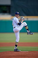 Montgomery Biscuits starting pitcher Dalton Moats (11) during a Southern League game against the Mobile BayBears on May 2, 2019 at Riverwalk Stadium in Montgomery, Alabama.  Mobile defeated Montgomery 3-1.  (Mike Janes/Four Seam Images)