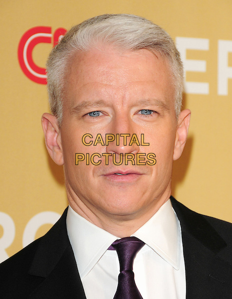 ANDERSON COOPER.at The 3rd Annual CNN Heroes: An All-Star Tribute held at The Kodak Theatre in Hollywood, California, USA,  November 21st 2009                                                                   .portrait headshot purple tie white shirt .CAP/RKE/DVS.©DVS/RockinExposures/Capital Pictures