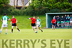 Darragh Sheehy Ballylongford is tracked by Kevin McCarthy Fossa in Fossa on Saturday evening