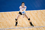 GRAND RAPIDS, MI - NOVEMBER 18: Taylor Brown (3) of Wittenberg University bumps the ball during the Division III Women's Volleyball Championship held at Van Noord Arena on November 18, 2017 in Grand Rapids, Michigan. Claremont-M-S defeated Wittenberg 3-0 to win the National Championship. (Photo by Doug Stroud/NCAA Photos via Getty Images)