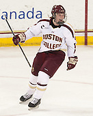 Taylor Wasylk (BC - 9) - The Boston College Eagles defeated the Northeastern University Huskies 3-0 on Tuesday, February 11, 2014, to win the 2014 Beanpot championship at Kelley Rink in Conte Forum in Chestnut Hill, Massachusetts.