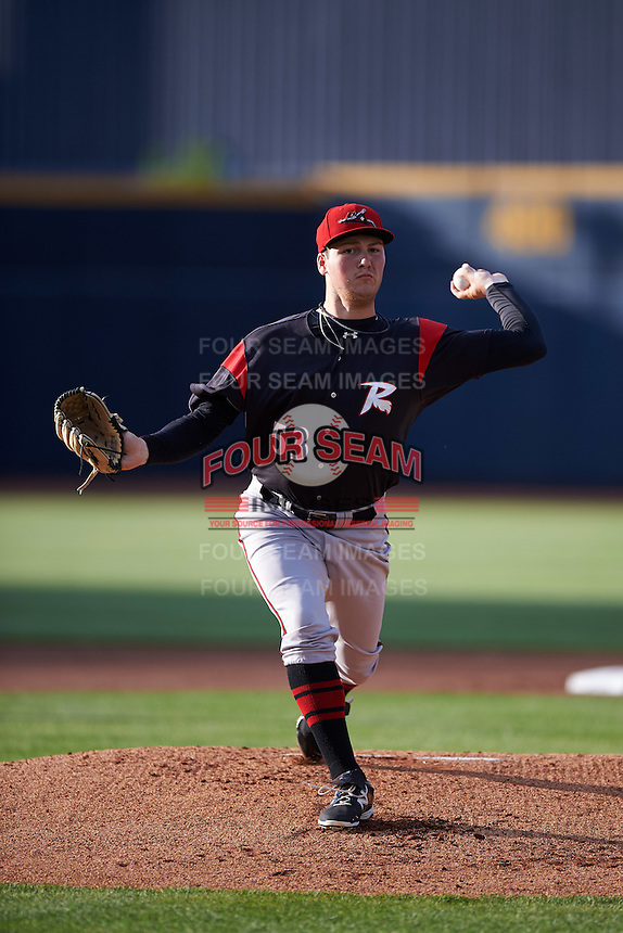 Richmond Flying Squirrels starting pitcher Matt Gage (53) during a game against the Akron RubberDucks on July 26, 2016 at Canal Park in Akron, Ohio .  Richmond defeated Akron 10-4.  (Mike Janes/Four Seam Images)
