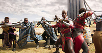 Black Panther (2018)<br /> Ayo (Florence Kasumba)<br /> *Filmstill - Editorial Use Only*<br /> CAP/KFS<br /> Image supplied by Capital Pictures