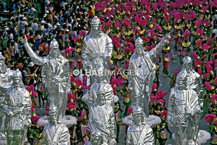 Desfile de carnaval da Mangueira. Rio de Janeiro. I987. Foto de Juca Martins.