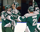 Alex Cottle (Plymouth State - 28), ?, Phil Arnone (Plymouth State - 21) - The visiting Plymouth State University Panthers defeated the Salem State University Vikings 3-2 on Thursday, December 1, 2011, at Rockett Arena in Salem, Massachusetts.
