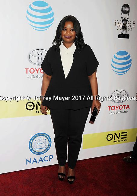 PASADENA, CA - FEBRUARY 11: Actress Octavia Spencer arrives at the 48th NAACP Image Awards at Pasadena Civic Auditorium on February 11, 2017 in Pasadena, California.