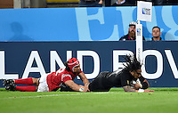 Ma'a Nonu of New Zealand scores a try in the second half. Rugby World Cup Pool C match between New Zealand and Tonga on October 9, 2015 at St James' Park in Newcastle, England. Photo by: Patrick Khachfe / Onside Images