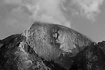 """Half Dome Sunset Fall"" Black and White Artistic taken during the Fall Season. Yosemite National Park, California. I made and adjustment to the texture of the rock to smooth it out giving it more of an artistic perspective. Capturing Half Dome at sunset really showcases the spectacular colors of its monolithic face.  45,000 people a year climb the famous cables to the summit too enjoy the view of the Valley floor."