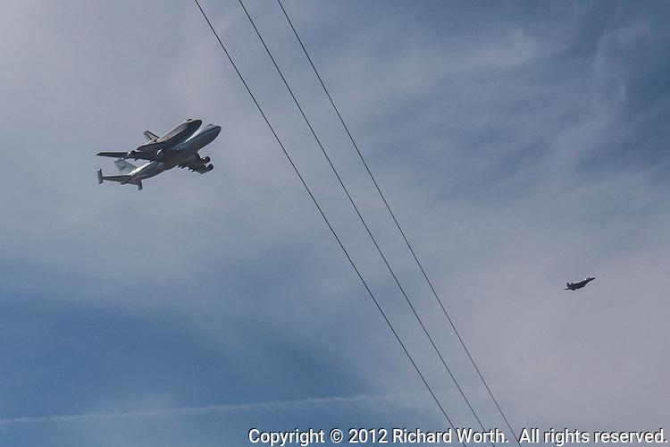 The space shuttle Endeavor
