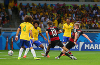 Andre Schurrle of Germany scores a goal to make the score 0-6