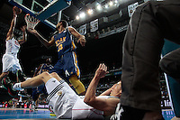 SPAIN, Madrid: Real Madrid's Spanish player Felipe Reyes during the Liga Endesa Basket 2014/15 match between Real Madrid and Ucam Murcia, at Palacio de los Deportes in Madrid on November 16, 2014. /NortePhoto<br />